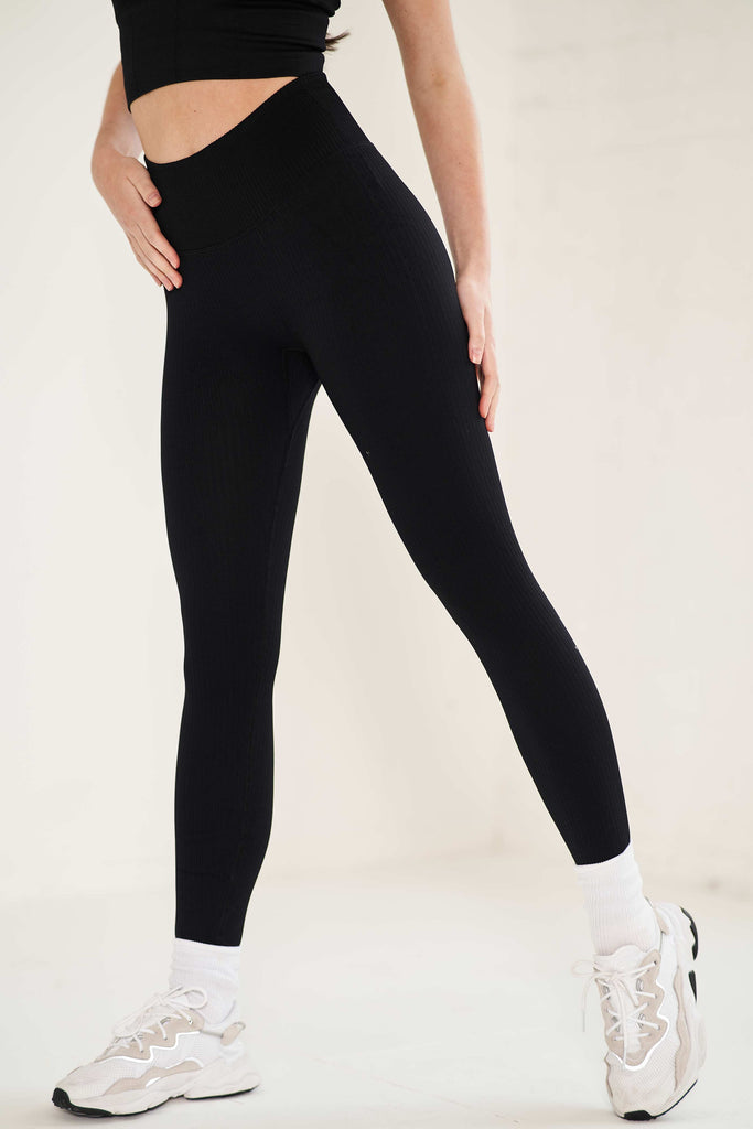 Seamless Sculpt Legging - Black Leggings