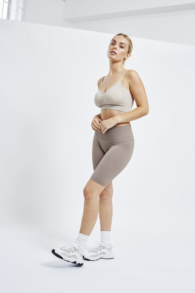 Seamless Sculpt Cycling Short - Taupe Shorts