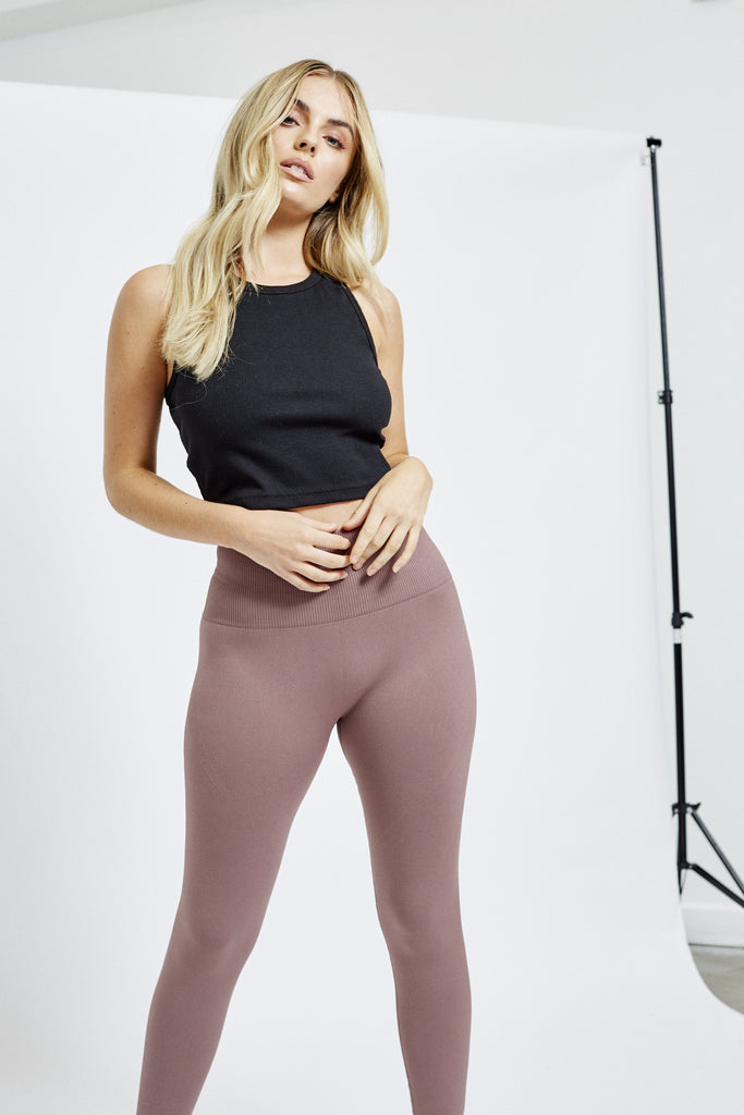 Seamless Sculpt Legging - Mauve Leggings