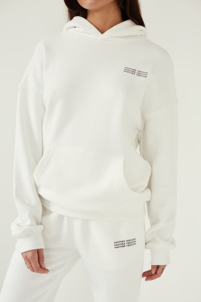 Premium Cotton Hoodie - Off White
