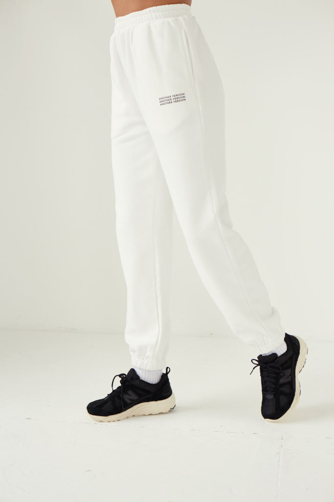 Premium Cotton Jogger - Off White Joggers