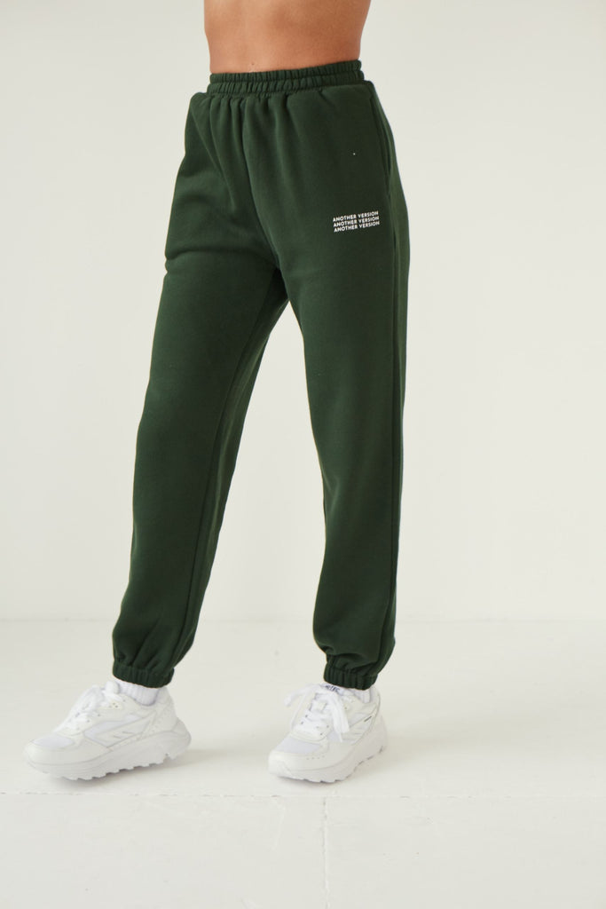 Premium Cotton Jogger - Deep Green Joggers