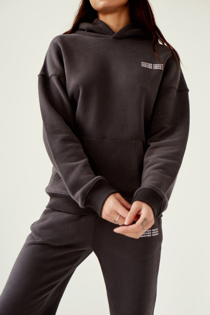 Premium Cotton Hoodie - Charcoal