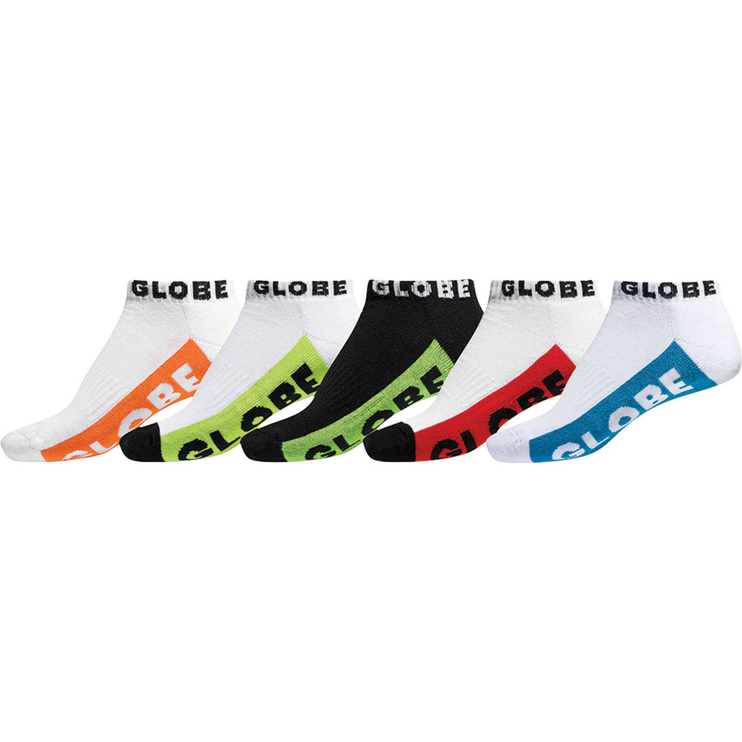 Globe Boys Multi Brights Sock 5 Pack Multi Coloured, Socks Globe Brand Australia