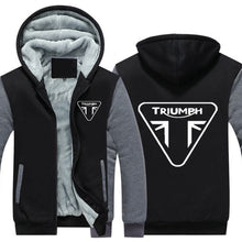 Triumph Motorcycle Thicken Hoodie Zipper Coat Jacket - TheBeardWarehouse
