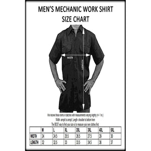 Men's Mechanic Work Shirt Dont Tread On Me: United States Of America - TheBeardWarehouse