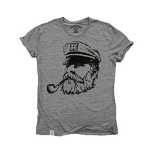 Ol' Sea Captain: Tri-Blend Short Sleeve T-Shirt in Tri Athletic Grey - TheBeardWarehouse