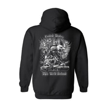 Unisex Zip Up Hoodie United States Army This We'll Defend - TheBeardWarehouse