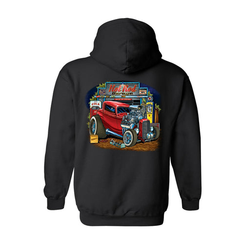 Men's/Unisex Zip-Up Hoodie Hot Rod Garage - TheBeardWarehouse
