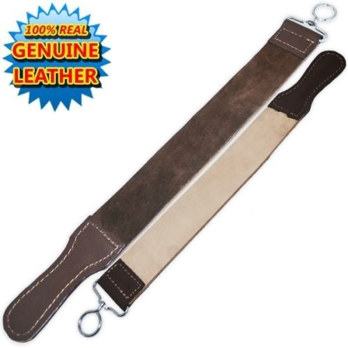 Professional Barber Leather Strop Straight Razor Sharpening Shave Shaving Strop - TheBeardWarehouse