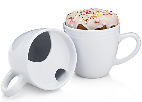 Donut Warming Coffee Cup With Drip Trap and Mustache Guard