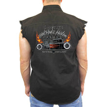 Men's Sleeveless Denim Shirt Shifters Hot Rod Kustoms - TheBeardWarehouse