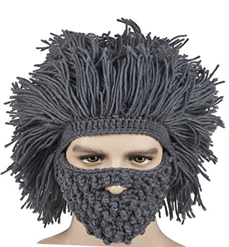 Men's Barbarian Vagabond Beanie Foldaway Beard Hat - TheBeardWarehouse