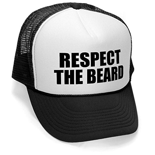 The Goozler Respect The Beard Adult Trucker Cap Hat - TheBeardWarehouse
