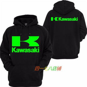Kawasaki  Motorcycle Racing Casual Hooded Sweatshirt