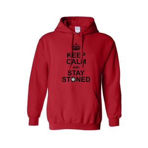 Men's/Unisex Pullover Hoodie Keep Calm And Stay Stoned - TheBeardWarehouse