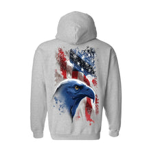 Unisex Zip Up Hoodie USA Flag American Icon - TheBeardWarehouse
