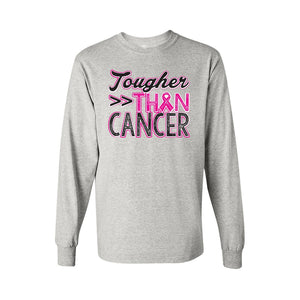 "Men's/Unisex BCA ""Tougher Than Cancer""  Long Sleeve T-Shirt - TheBeardWarehouse"