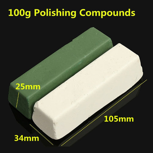 Abrasive Buffing Polishing Soap Compound Paste Wax Bar Metal Brass Grinding - TheBeardWarehouse