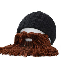 Men's Wool Beanie Viking Beard Face Mask Crochet Winter Ski Prop Cap Winter Warm Hat - TheBeardWarehouse