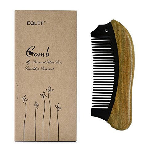 Beard Comb Horn Comb Medium Tooth Handmade Buffalo Horn and Sandal Wood Comb - TheBeardWarehouse