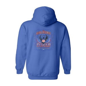 Men's/Unisex Pullover Hoodie The Second Amendment Issued My Gun Permit - TheBeardWarehouse