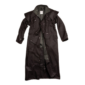Riding Coat Heavy Weight Cotton Oilskin - Brown