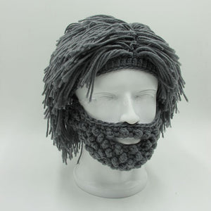 Wig Beard Hats Hobo Mad Scientist Rasta Caveman Handmade Knit - TheBeardWarehouse