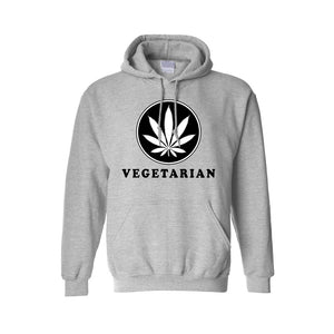 Men's/Unisex Pullover Hoodie Vegetarian Life Style - TheBeardWarehouse