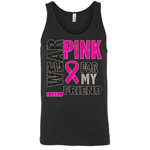 Men's Tank Top Breast Cancer Awareness I Wear Pink For My Friend - TheBeardWarehouse