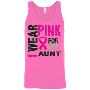 Men's Tank Top Breast Cancer Awareness I Wear Pink For My Aunt - TheBeardWarehouse