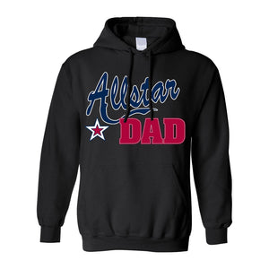 Men's/Unisex Pullover Hoodie Father's Day Allstar Dad - TheBeardWarehouse
