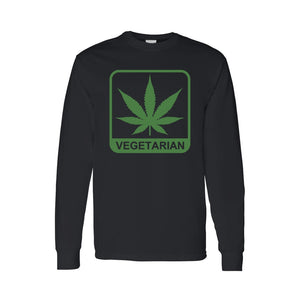 "Men's/Unisex Funny ""Vegetarian"" Long Sleeve T-shirt - TheBeardWarehouse"
