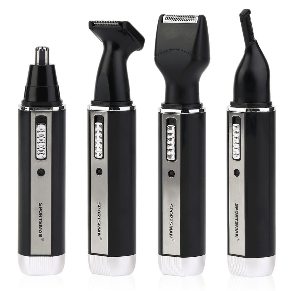 4 In 1 Personal Waterproof Rechargeable Electric Men Male Ear Nose Trimmer Hair Clipper - TheBeardWarehouse