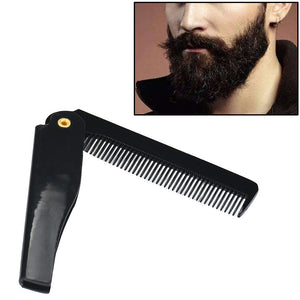 Hairdressing Beauty Folding Beard And Beard Comb Beauty Tools For Men - TheBeardWarehouse