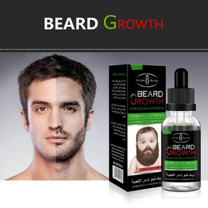 Men Liquid Beard Growth Fast Enhance Facial Whiskers Nutrition Moustache - TheBeardWarehouse