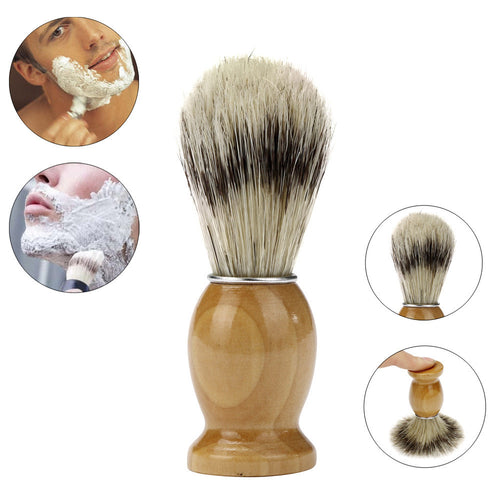ZY Professional Barber Salon Shave Shaving Razor Brush Wood Handle Tool - TheBeardWarehouse