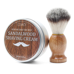 Men's Mug Shaving Soap 5.2oz & Nylon Removal Beard Shaving Brush Beard Care Kit - TheBeardWarehouse
