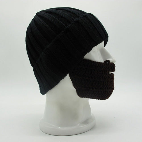 Winter Cool Solid Ski Warm Soft Beard Novelty Hats Knitted Outdoor Cap - TheBeardWarehouse
