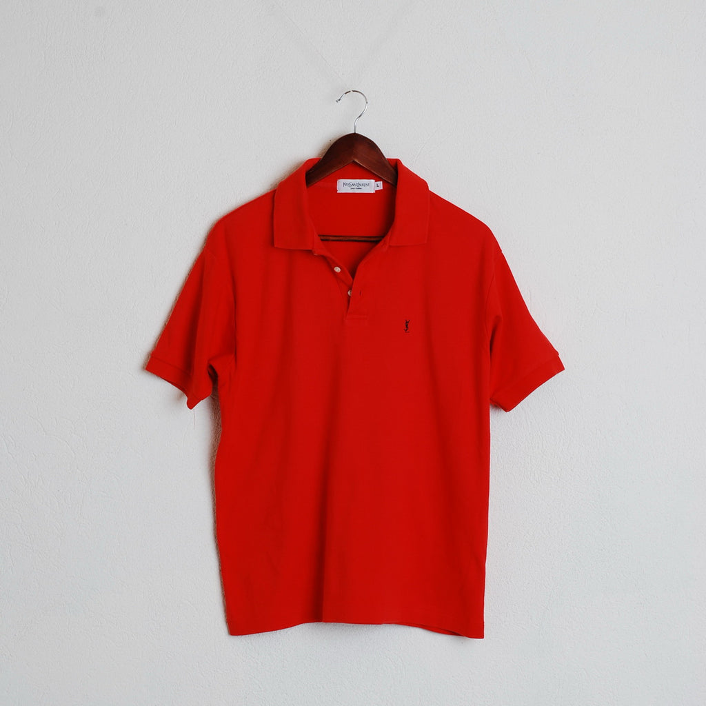 ce3a12d46c8 Yves Saint Laurent Man L Red Polo Shirt Vintage Short Sleeve Summer #249 ...