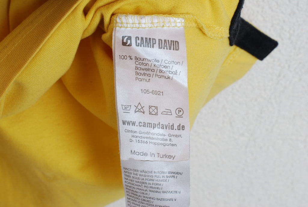 exquisite style elegant shoes cheapest price Camp David Yellow Polo Shirt Short Sleeve L #131