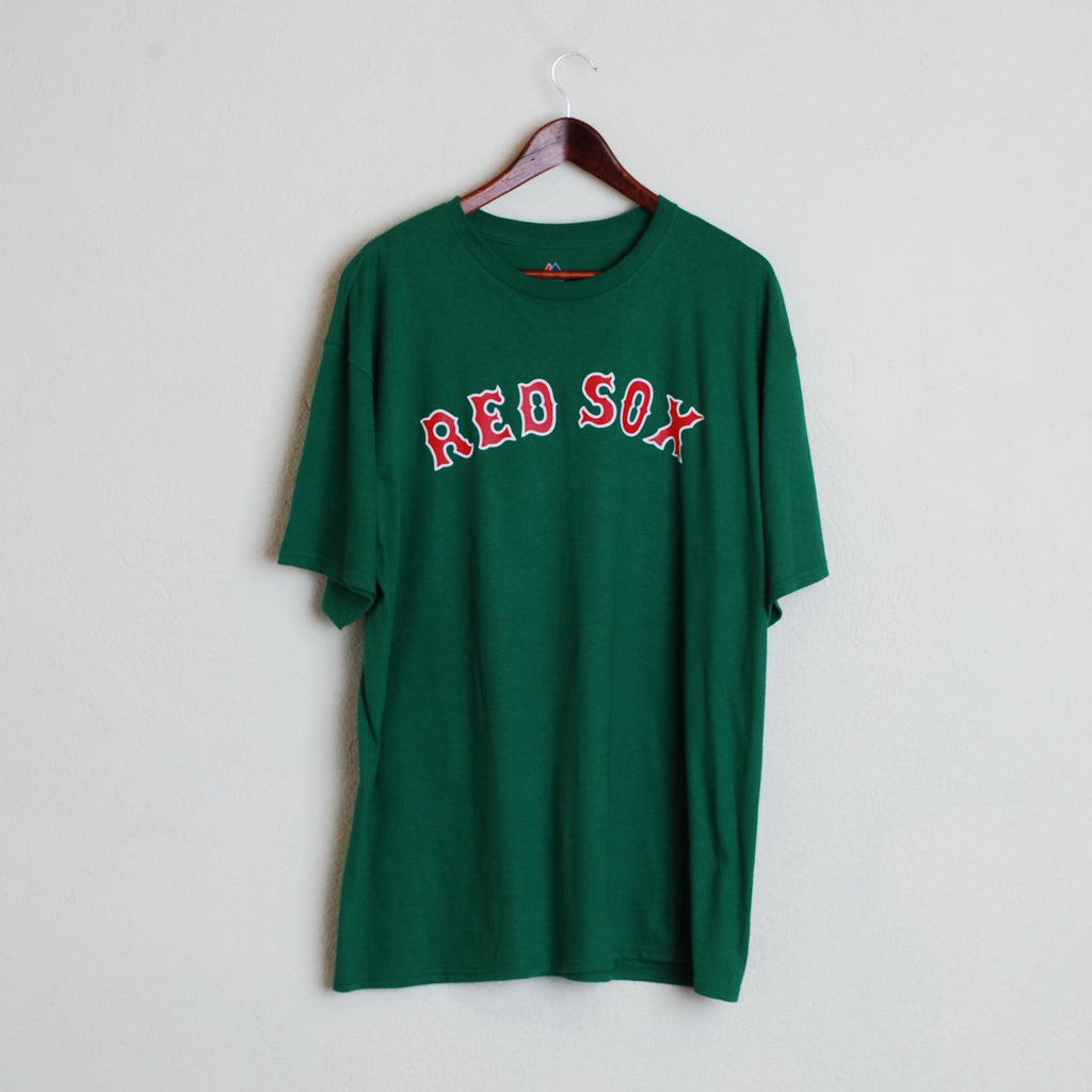 official photos 93777 52a14 Majestic Boston Red Sox Mans XL Green Short Sleeve T Shirt Jersey Top #390