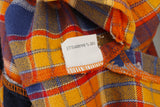 Day by Day Women L Vintage Casual Shirt Cotton Orange J0224