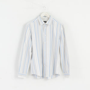 Armani Exchange Women M Classic Shirt Collar Stripes White M3088