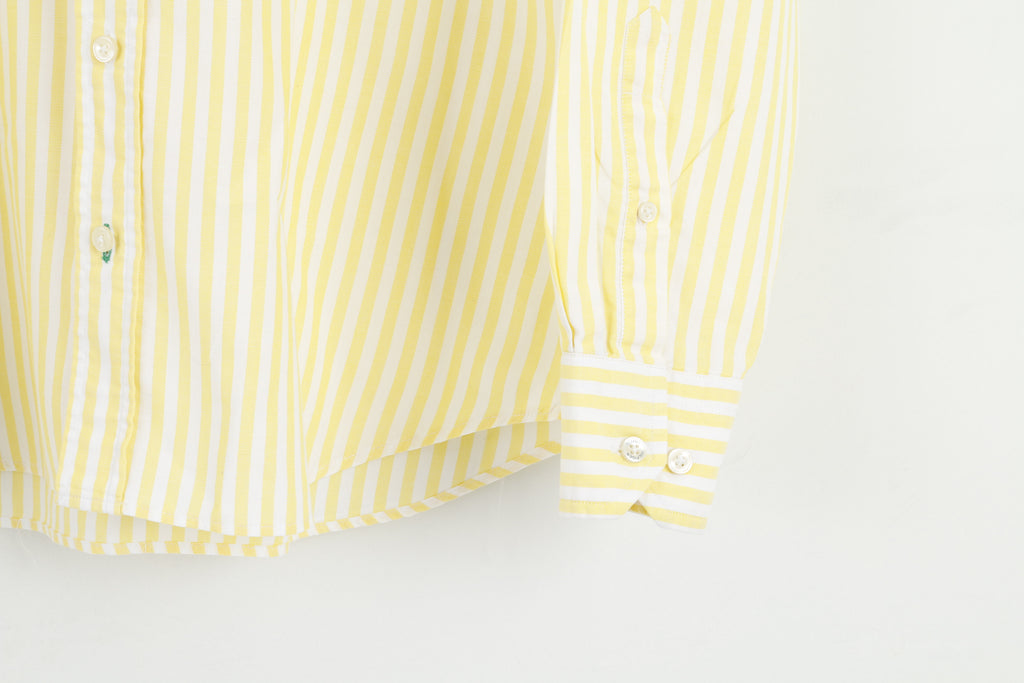 Tommy Hilfiger Men L Causal Office Shrit Stripes Yellow M2693