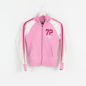Nike Women XS Tracsuit Jacket Jumper Blouse Pink M2739