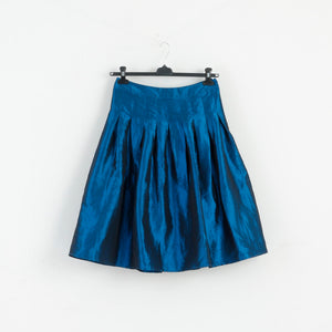 Asos Women 10 L NEW Flared Midi Skirt Tulle Metalic Blue M2981