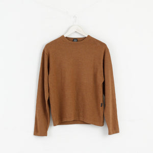 Hugo Boss Women M/L Jumper Sweater Virgin Wool Brown M2983
