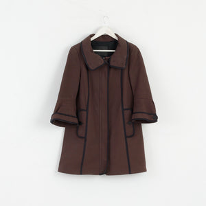 Zara Basic Women S Autumn Coat High Collar Cotton Brown M3008