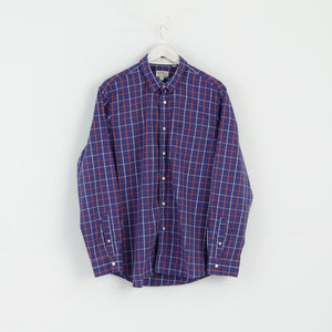 Jack Wills XL NEW Casual Shirt Check Cotton Blue M3022